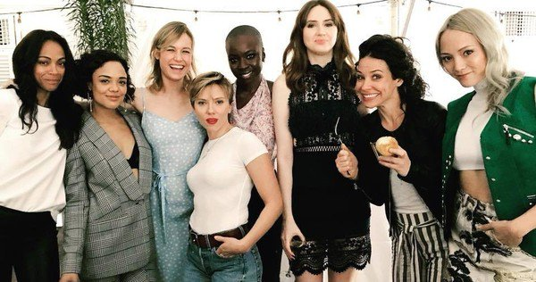 Mcu-10th-Anniversary-Female-Marvel-Superheroes-Cast-Photo